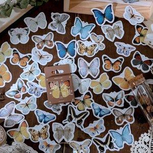 46 Pcs Caixa dos desenhos animados Kawaii Sealing presente da colagem da borboleta adesivos decorativos Scrapbooking Back To School personalizado Planner adesivo wmtgCk