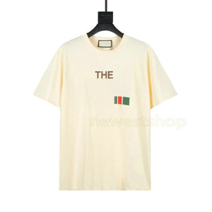 2021 Europe Higher version Hip Hop Cool Italy USA Collaborate Letter Print T Shirt Skateboard Cool TShirt Men Women Cotton Short Sleeve Tee
