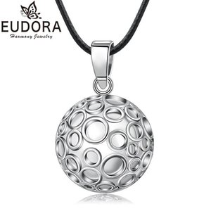 EUDORA 22mm Mexican Bola Harmony Chime Ball Angel Caller Bubble Pregnancy Pendant Necklace for Women Fashion Jewelry Gift