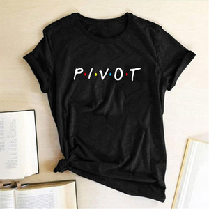 2019 Pivot Women Letter Print T shirt Casual Tops Tee Shirts Summer Short Sleeve Tee Shirt Femme High Quality Clothing
