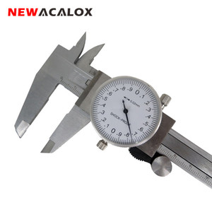 NEWACALOX Metric Gauge Measuring Tool Dial Caliper 0-150mm 6inch Shock-proof Stainless Steel Precision Vernier Caliper T200602