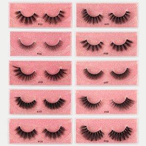 3D Faux Mink Eyelashes Long Lasting False Eyelashes Natural Dramatic Volume Eyelashes Extension Thick Long Lashes