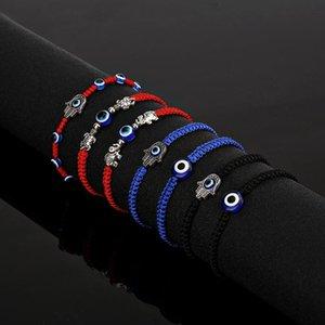 Bracelets de corde tressé de mode 2020 hommes femmes chanceux braslet rouge gothique oeil maléfaite fatima handsa brazate yoga bijoux pulsera