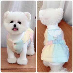 Cat Dog Dress Winter Dog Clothes Harness Skirt Chihuahua Yorkshire Small Costume Coat Poodle Bichon Pomeranian Clothing