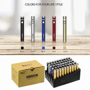 Original YOCAN B-Smart Battery 320mAh Slim Torça VV Bottom Ajustável Tensão E Cig 510 Vape Pen Bateria com suporte de exposição