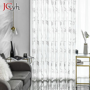 Embroidered Tulle Curtains Window For Living Room Bedroom Kitchen White Sheer Curtains For Window Fabric Rideaux Voilage