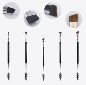 beauty tool Double-headed eyebrow brush + eyelash curler Eyebrow Eyeliner Eyebrow gel Makeup brush