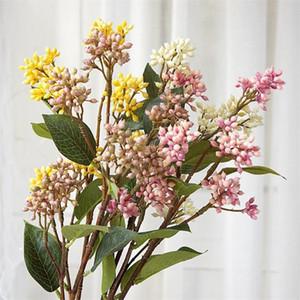 "Fake Single Stem Wild Fruit 24.41"" Length Simulation Plastic mini Flower for Wedding Home Decorative Artificial Plants"