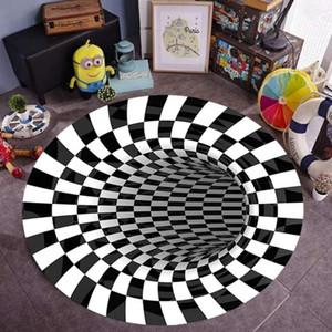 3D geometrische optische illusie antislip halı kaymaz tapijt vloer mat voon eetkamer slaapkamer woonkamer ev dekor