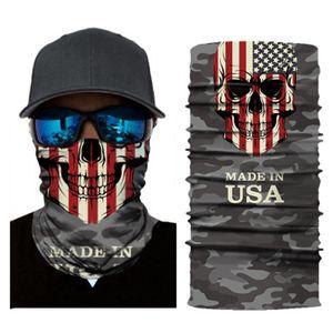 Skull Magic Scarf American National Flag Bandana Half Face Mask 25*50cm Canada USA Puerto Rico Flag Headband Turban Ski Cycling Mask CY Doax