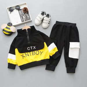 소년 편지를위한 어린이 스포츠 슈트 스웨터 캐주얼 바지 아기 1-4 년 아이 의류 티셔츠 세트 옷