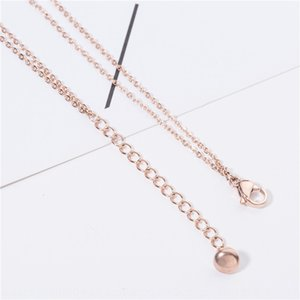 sRi4d New Korean style fashion double-layer titanium steel anklet rose gold men's and women's letter Jewelry jewelry stainless steel good an