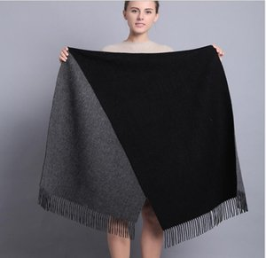 South Korea's autumn and winter new women's thick double-sided winter warm woolen scarf original single fashion shawl
