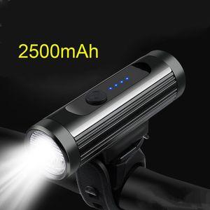600 Lumen Bike Front Light Rainproof Bicycle LED Light USB Charging Rechargeable MTB Road Bike HeadLight Floodlight