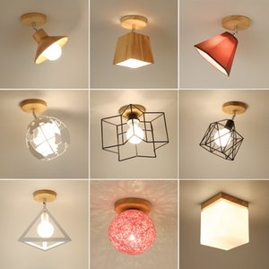 Modern Ceiling Lights Crystal Ceiling Lamp Nordic Plafonnier LED Vintage Light Fixtures For Living Room Bedroom Home Foyer E27