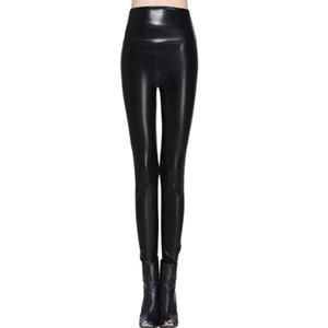 Mulheres Qualidade Inteligente Plus Size Alta Elasticidade Calças Sexy S-XL Botas de Couro Leggings