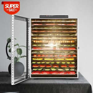 16 Layers large Food Dryer Dried Fruit Tea Herbs Dehydration Vegetables Meat Drying Machine Stainless Steel 220v 110v #gP76