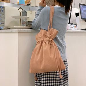 2020 bolsos de hombro del cordón Mabula otoño pana cesta de la compra plegable ambiental de almacenamiento de ultramarinos bolso de mano c1116