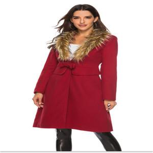Mélange de laine en vrac féminin vesticules cm de four à col vrac manteau d'hiver colorie de couleur massif chronométrant femmes en laine mélanges vestes avec arc