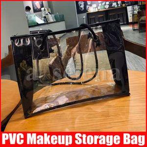 Femmes Femmes Sac transparent cosmétique Clear PVC Beach Sacs à bandoulière de grande capacité Sac de rangement de la maquillage de voyage