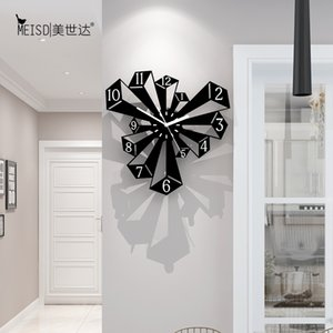 MEISD Quality Acrylic Clocks Modern Quartz Watch Creative Wall Hanging Living Room Black Horloge Home Decor Free Shipment Y1121
