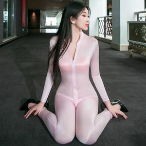 Partido de clubes nocturno Entrada Abrir la entrepierna a través de Bodycon Mansuits High Elasticity Sexy Sexy Perspectiva Sexy Slim Erotic Women Body