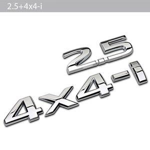 3D Car Stickers Car Styling Metal 2.5 4x4-i Badge Emblem Tail Decal for Nissan X-Trail 350z nv200 versa np300 juke Nismo qashqai