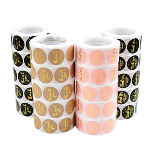 500pcs roll 2.5cm Thank You Stickers Seal Labels Gift Packaging Stickers Wedding Birthday Party Offer Stationery Sticker