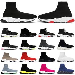 Yeni shoes çorap ayakkabı erkek bayan spor ayakkabı hız eğitmen siyah beyaz Clearsole Sarı Fluo mavi pembe erkek moda rahat ayakkabı koşu yürüyüş