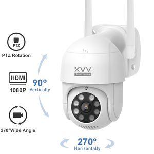 Новая умная открытая IP-камера P1 1080P PTZ Rotate Wi-Fi веб-камера Humanoid обнаруживает водонепроницаемые камеры безопасности работы с приложением