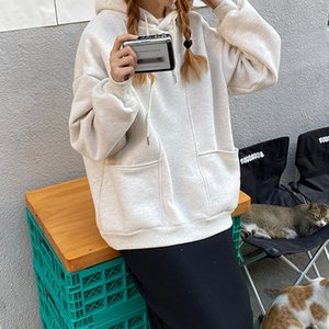 2021 New 4 colours Autumn winter soild color thicking hoodies of women sweaters and pullovers (f4170) CZ15