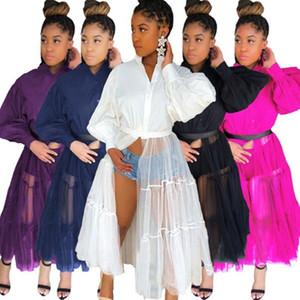 Women Plus Size Casual maxi Dresses Fall Winter Clothes sexy & club v-neck elegant beachwear sheer mesh evening party dress hot selling 0672