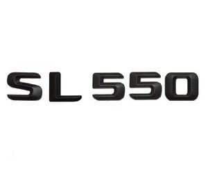 "Matt Black "" SL 550 "" Car Trunk Rear Letters Words Number Badge Emblem Decal Sticker for Mercedes Benz SL Class SL550"