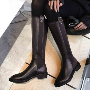 High Boots Women Winter Warm Back Zipper Party Basic Shoes Woman Riding Boots Round Toe Knee High