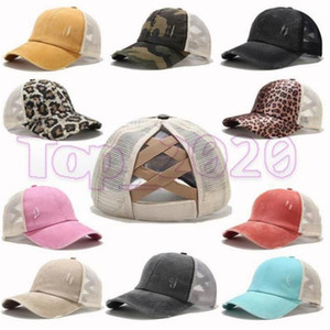 14 Colors Ponytail Baseball Cap Messy Bun Hats For Women Washed Cotton Snapback Caps Casual Summer Sun Visor Outdoor Hat