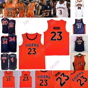 Tigers Basketball Jersey NCAA College Samir Doughty Isaac Okoro Danjel Purifoy J'von McCormick Austin Wiley Devan Cambridge Jamal Johnson