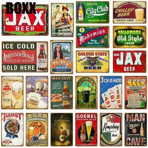 Drink JAX Beer Metal Tin Signs City Club Art Print Poster For Pub Bar Club Home Wall Decor Vintage Man Cave Wine Iron Plaque