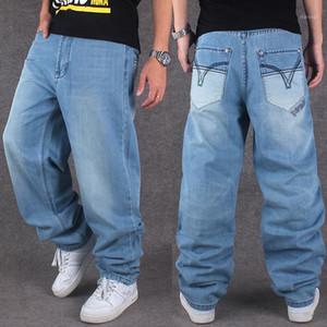 Оптовая продажа 2016 Новая мода Бренд мужские джинсы хипхоп хип-хоп одежда промытые джинсы случайные свободные штаны плюс удобрения XL1