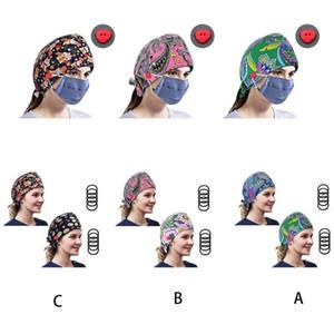 النساء العرقية أزرار بيزلي فرك كاب اشتراكاتك العلاقات الشعر العمل منتفخ قبعة 50PF