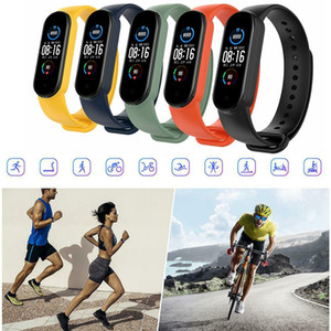 M5 Tracker Watch Smart Bracelet 5 Colors Touch Screen Wristband Fitness Blood Oxygen Track Heart Rate Monitor Smartband