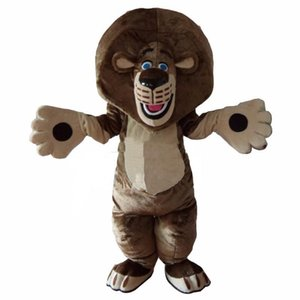 2018 High quality hot Lion Mascot Costume Cartoon Outfit Suit Free Shipping Adult Size