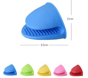 8.5*11cm Silicone Heat Resistant Gloves Clips Insulation Non Stick Anti-slip Pot Bowel Holder Cooking Baking Oven Mitts Kitchen BBQ Tools