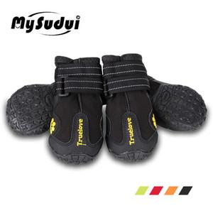 Chaussures de chien de compagnie de compagnie Truelove Chaussures de pluie imperméables pour chiens Big Petit chien Bottes pour chiens Tous temps Szapatos Para Perro Q1206