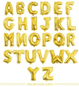Happy Birthday party balloons Wedding decorations balloons 16inch Alphabet Foil Letter balloon kids baby shower girl supplies