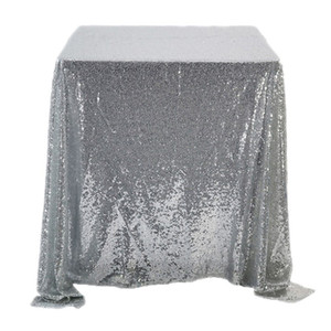 Mermaid Sequins Tablecloth Square Pure Color Home Furnishing Articles Table Cloth Hot Selling With Different Color 47qq2 J1