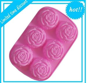 6 Even Roses Flower Sile Cake Tool Heart Gelatin Soap Jelly Mold Food Grade Case Kitchen jllVoU trustbde