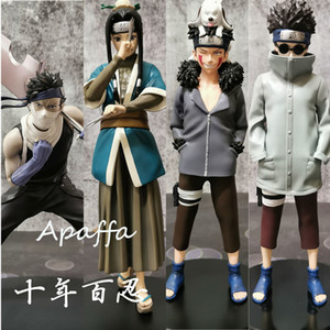 New Arrival NARUTO Shippuden Inuzuka Kiba PVC Action Figure Momochi Zabuza Haku Anime Figurine Collectible Model Toys Doll 201202