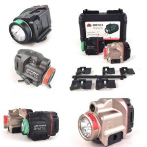LQIBH Hand-Cranked TLR-8 Laser Tactics Emergência Carregamento Laser Multi-Function Radio Lanterna Infravermelho Laser Ultrafire 501B Flashlight FLA
