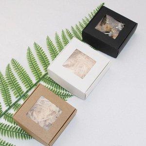 SOAP Paper Box Kraft Paper Boxes Подарочная упаковочная коробка Pad Taping с окном коробка Пасха Валентина подарочная упаковка GWB3707