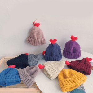 Kids caps Family Match Hats Hats Knitted Fashion Trendy Beanie Winter Over sized Chunky Skull Soft